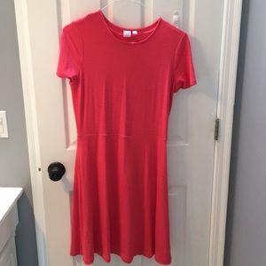 GAP medium tall pink cotton a-line swing dress